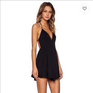 Revolve Get Out Dress in Black